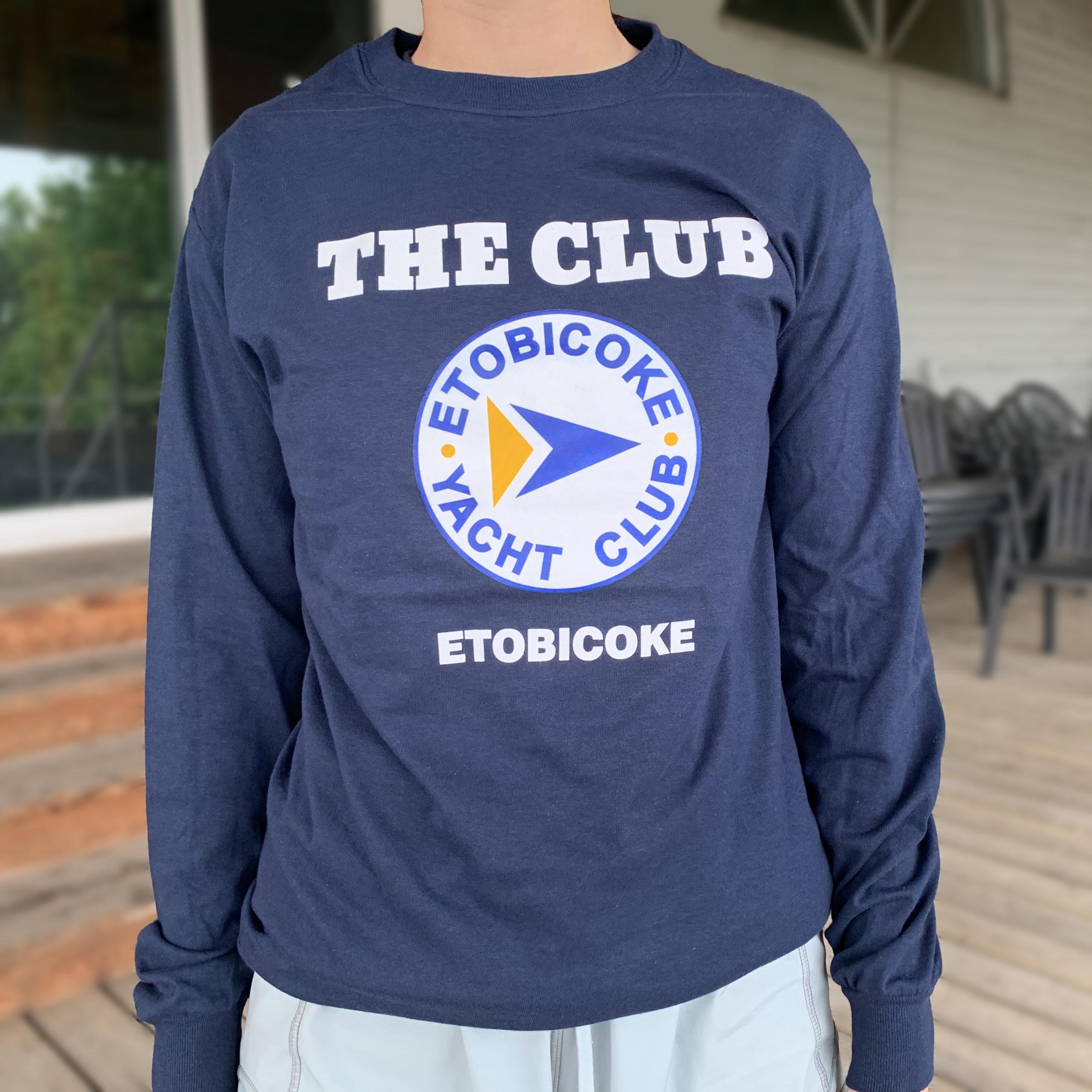 """""""The Club"""" Long-Sleeve T-shirt, Navy - $25"""