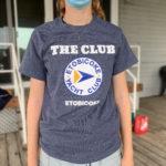 """The Club"" Short-Sleeve T-shirt, Blue-Grey - $20"