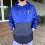 1/4 Zip Jacket, Blue/Navy - $35