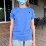Ladies' Crewneck T-shirt, Iris - $15