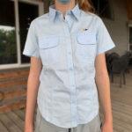 Ladies' Twill Shirt, Light Blue - $30