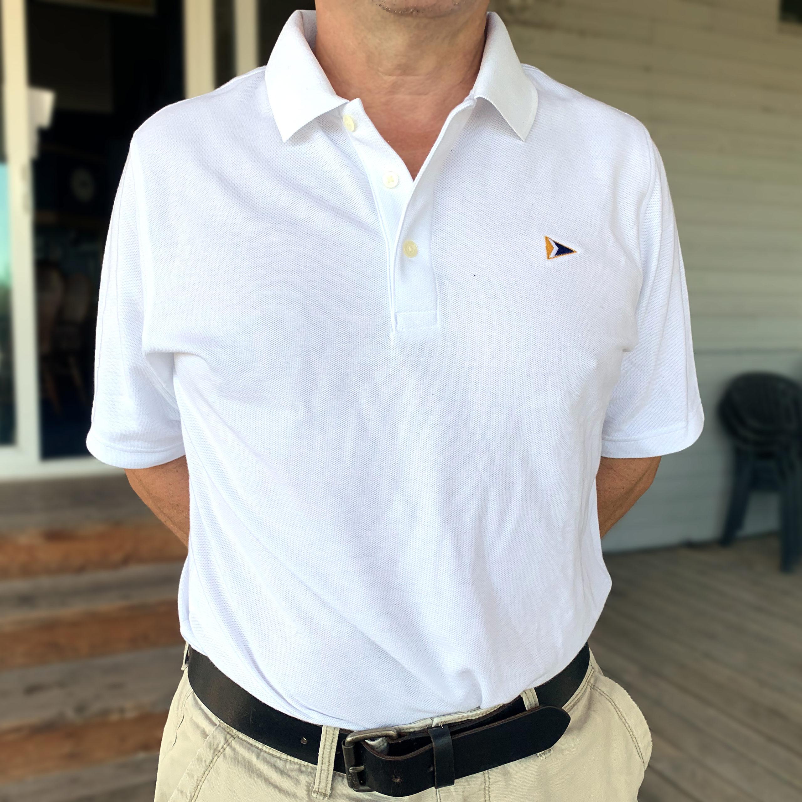 Men's Polo, White - $35
